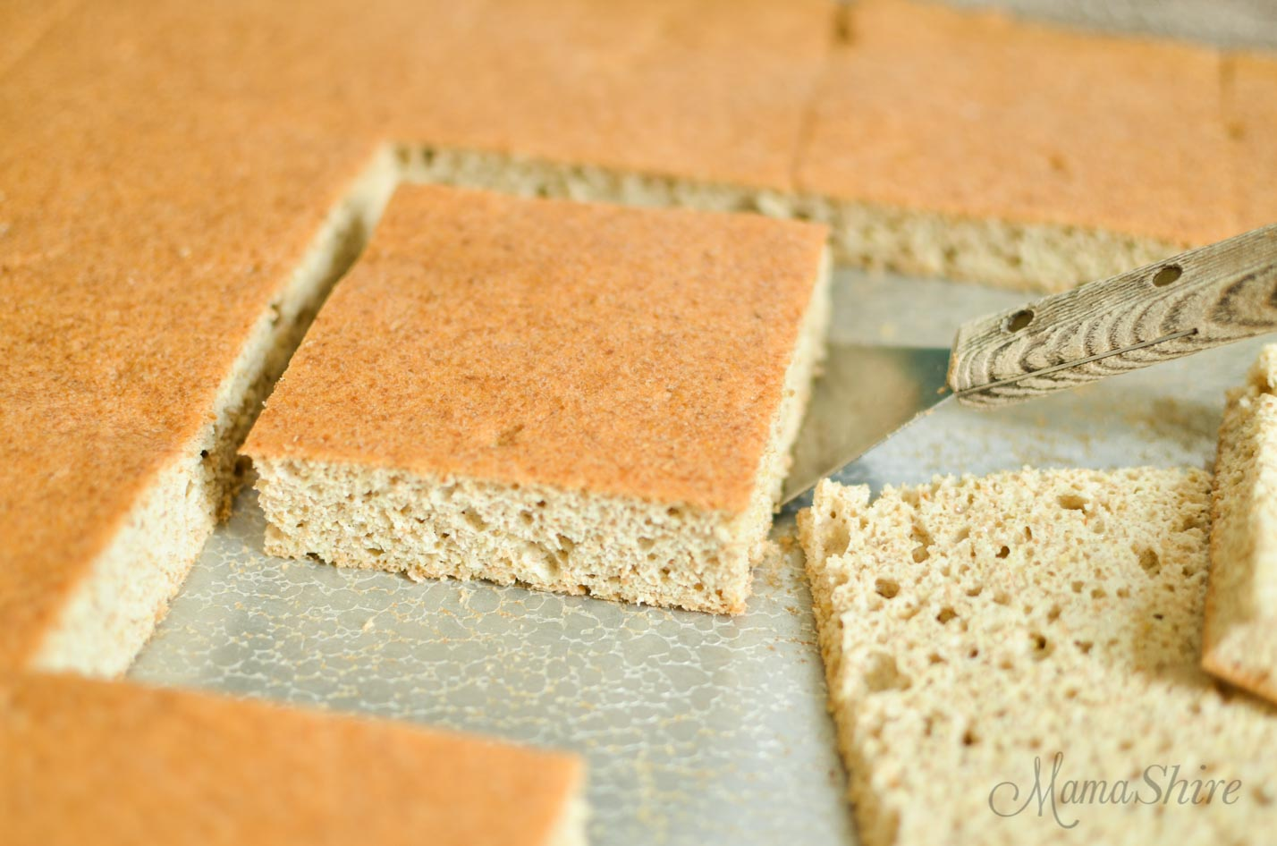 Gluten-Free Bread cut in squares.
