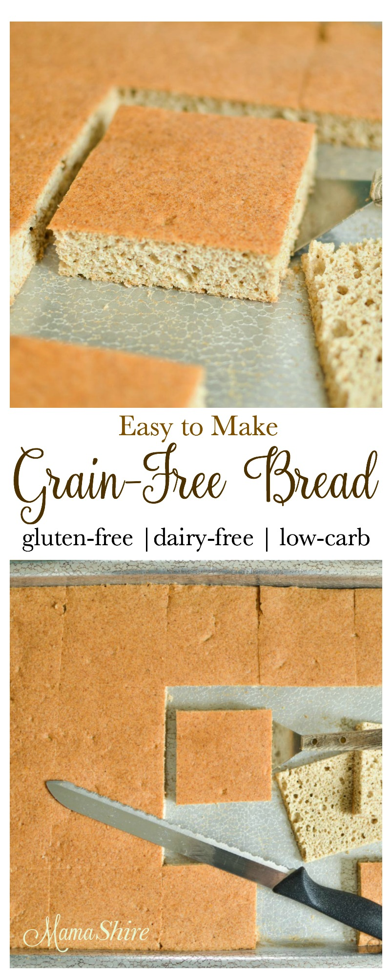 Grain-Free Bread - Gluten-free, Dairy-free, Low-carb, sugar-free