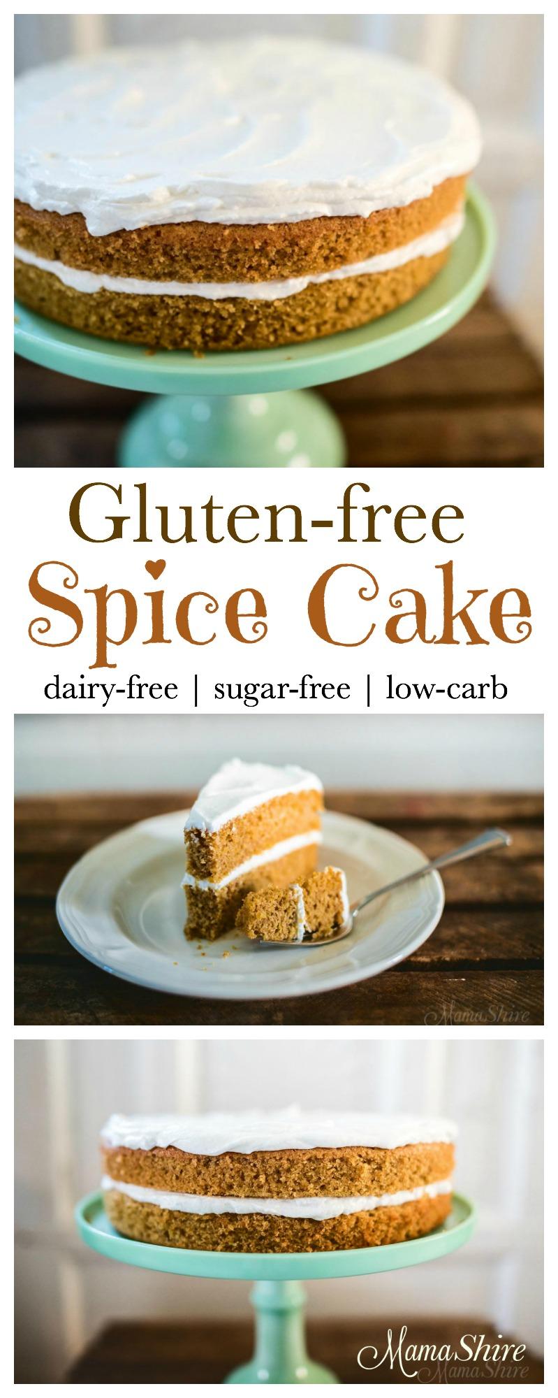 Gluten-Free Spice Cake - Dairy-free, sugar-free