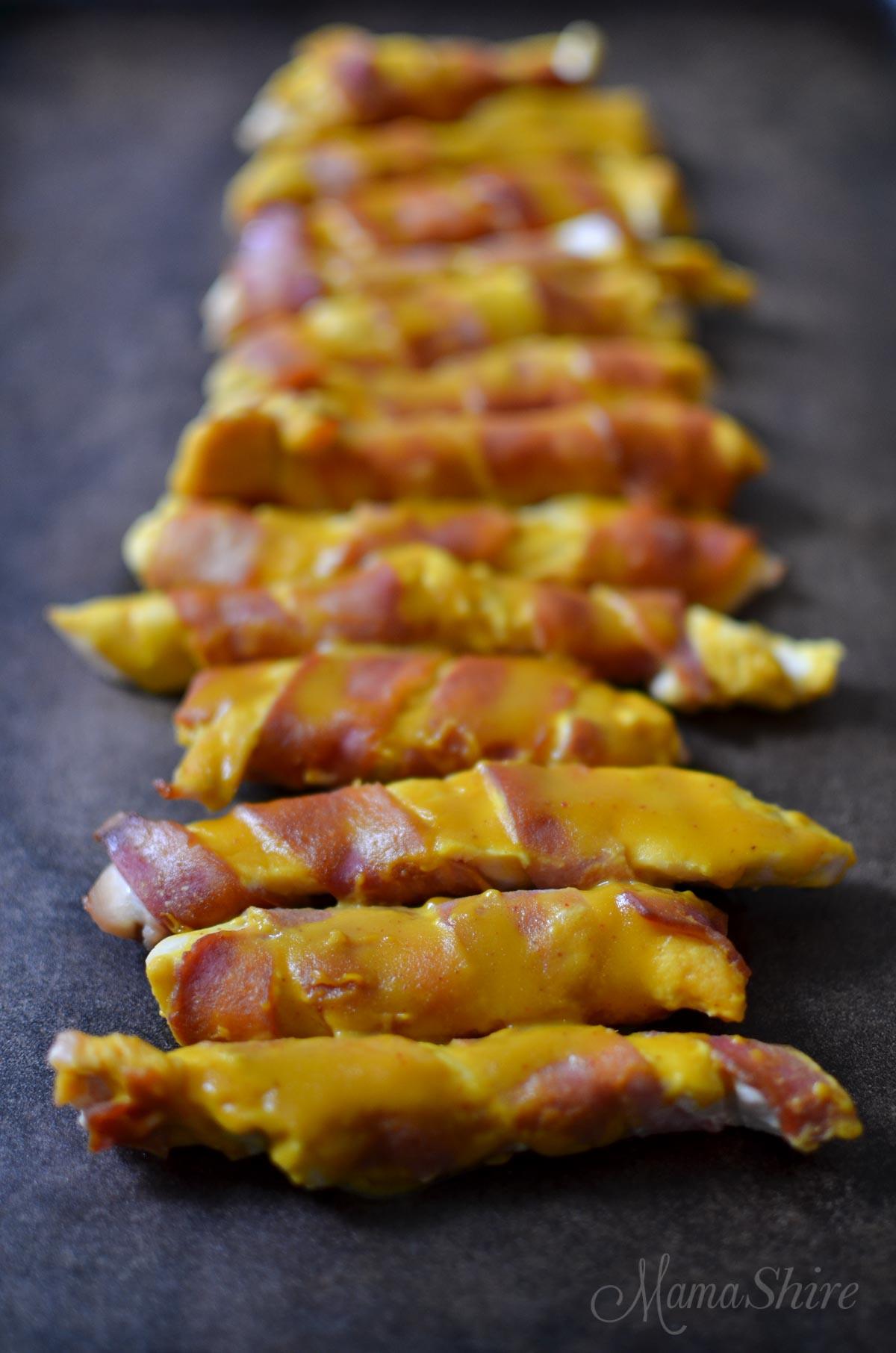 Sweet Mustard Bacon Chicken Strips - MamaShire - THM