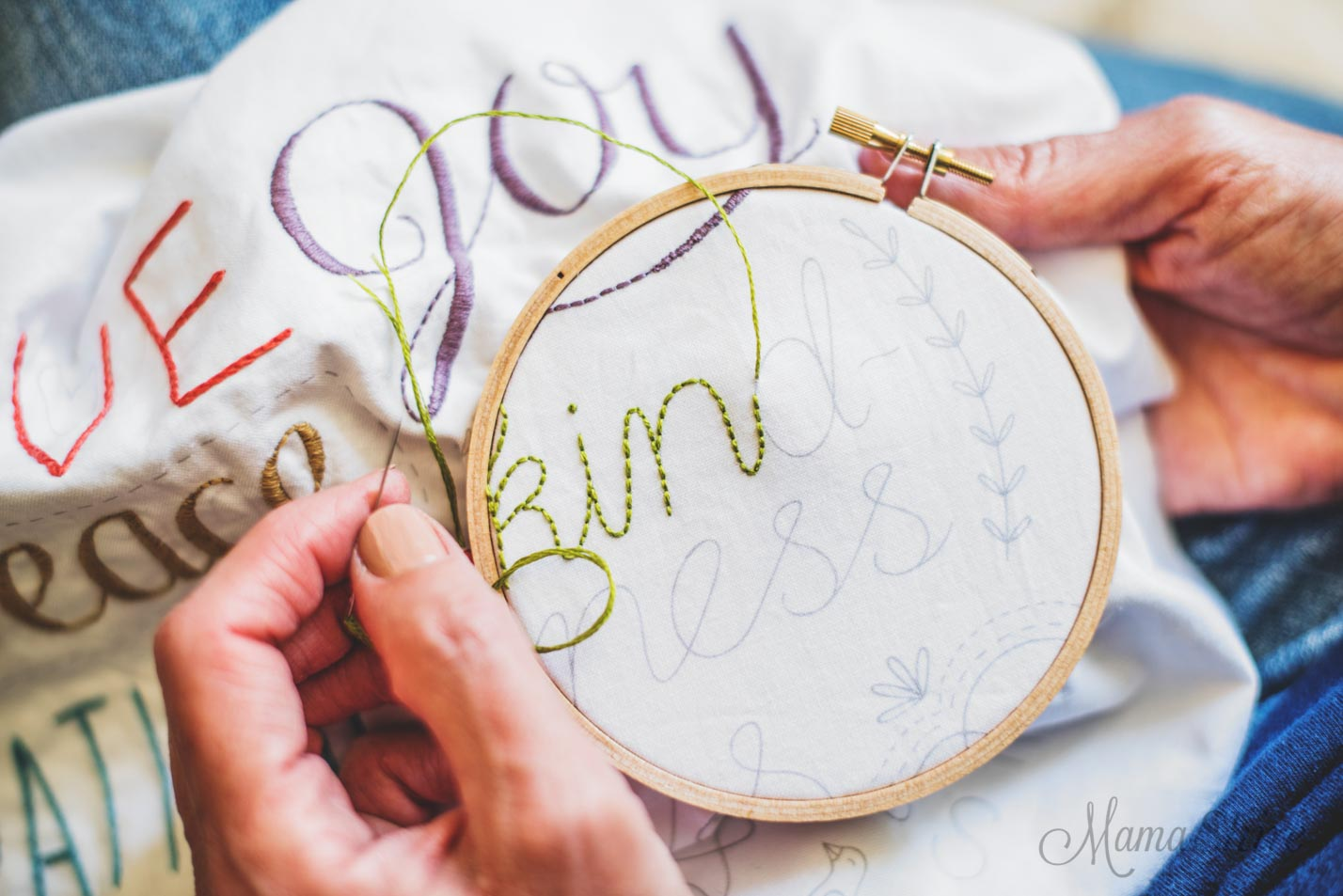 Backstitch Tutorial - Clementine Patterns - MamaShire.com