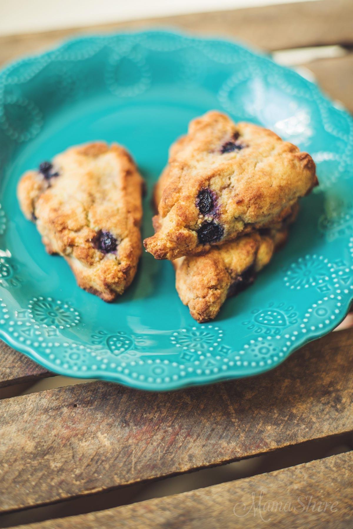 Blueberry Vanilla Scones- Gluten-Free - MamaShire.com