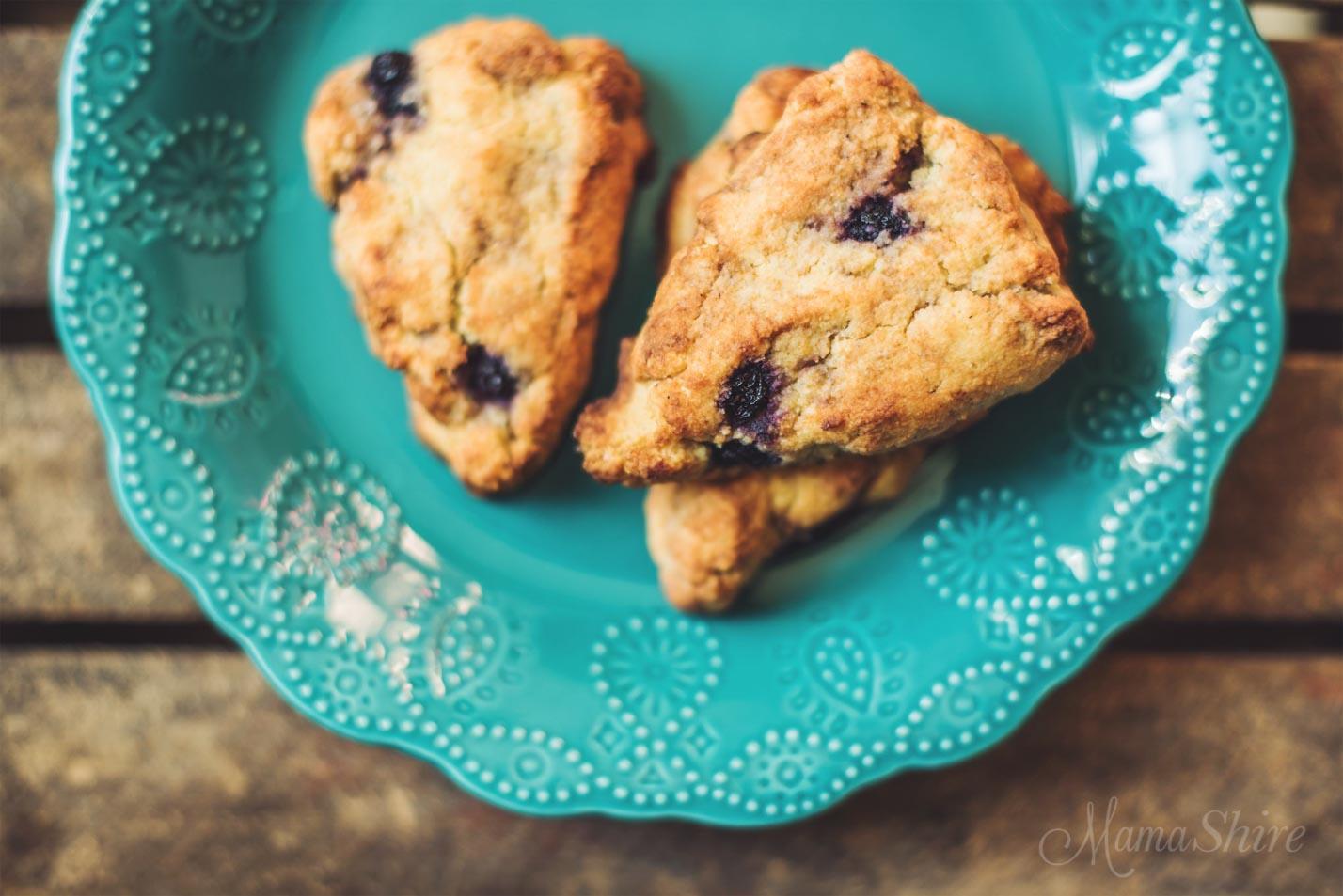 Blueberry Vanilla Scones - Gluten-Free - MamaShire.com