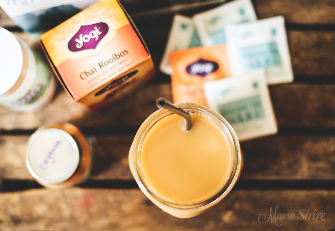 Chai Sipper - Oolong and roobois tea with added cayenne and stevia. Dairy-free and Sugar-free