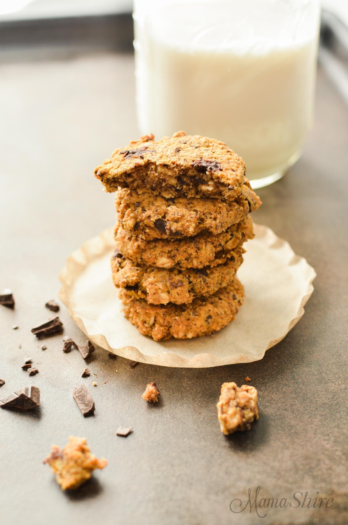 Pumpkin Oatmeal Chocolate Chunk Cookies - Gluten-Free - MamaShire.com