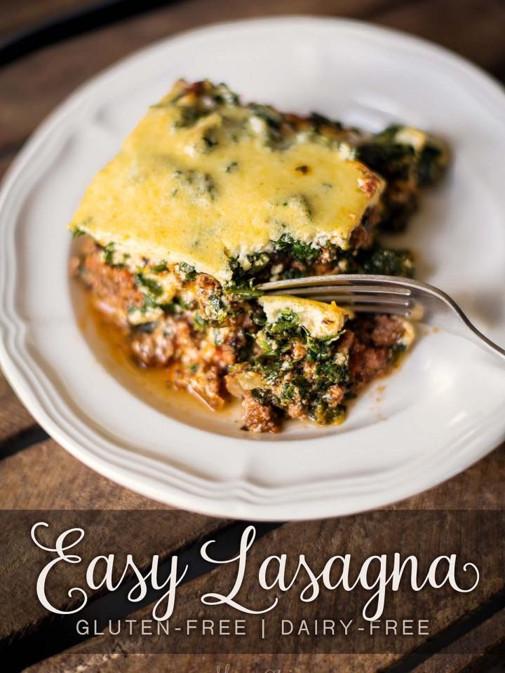 Easy Lasagna - Gluten-free, dairy-free, sugar-free, THM-S