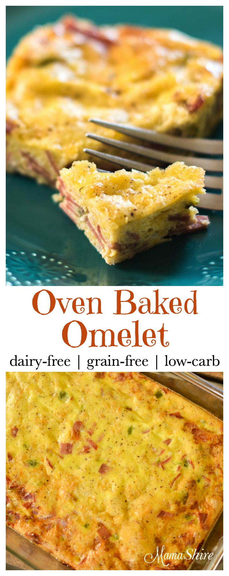 Oven Baked Omelet - Dairy-Free, Grain-Free, Low-Carb, THM