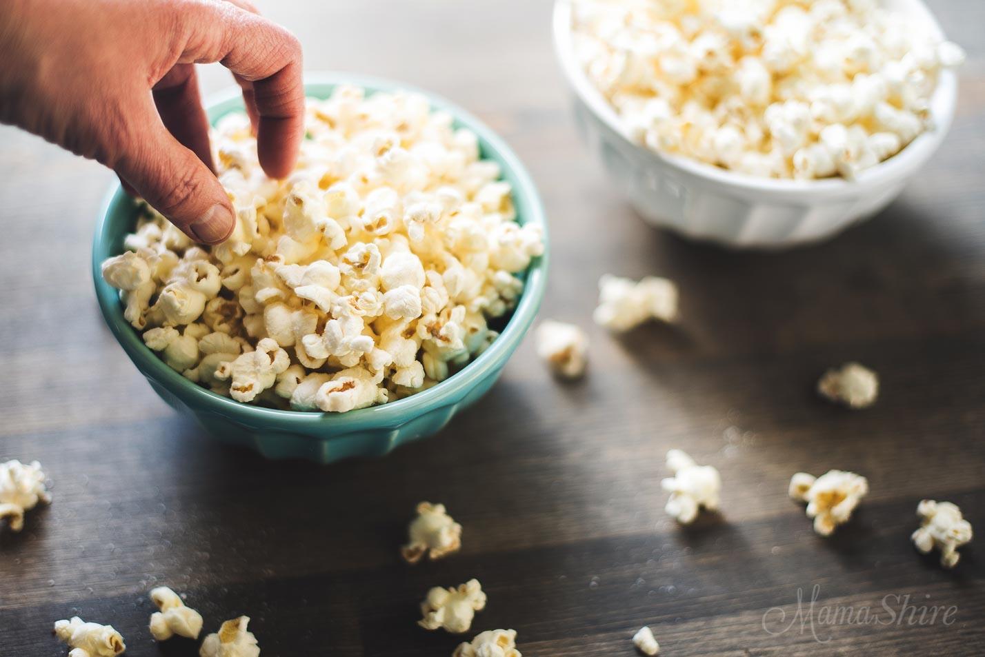 Sweet and Salty Popcorn - MamaShire