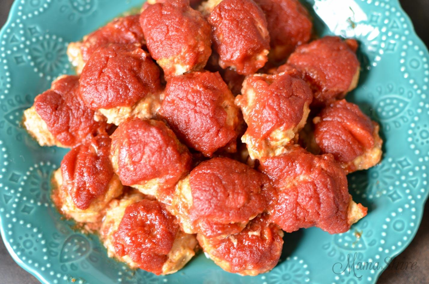 Turkey Barbecue Meatballs (Gluten-Free, Dairy-Free, Sugar-Free) - THM-S - MamaShire.com