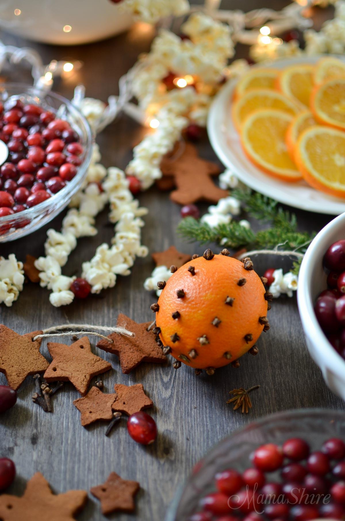 Christmas Decorations From The Kitchen Mamashiremamashire