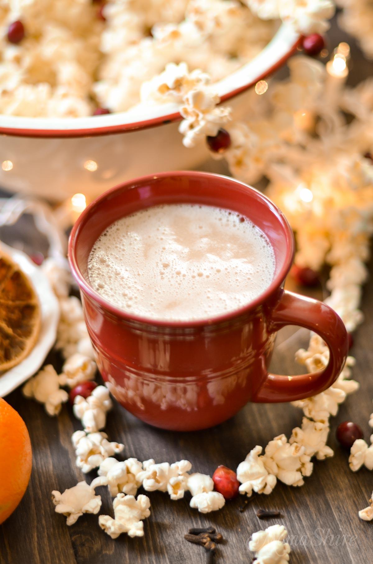 Dairy-free Eggnog, sugar-free, gluten-free, low-carb, THM-S #dairyfree #eggnog #trimhealthymama
