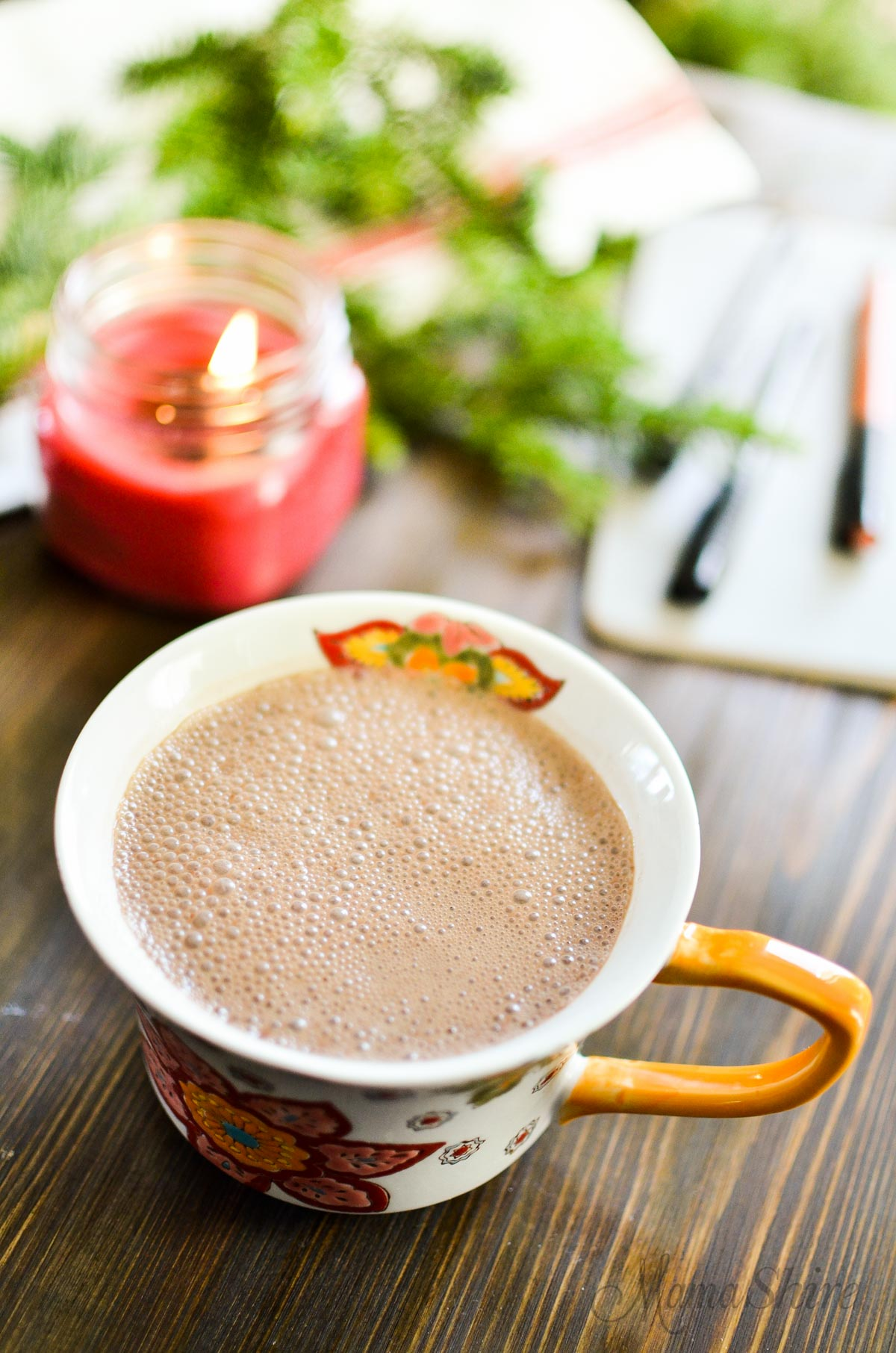 Dreamy Hot Chocolate Dairy Free Sugar Free - MamaShire.com