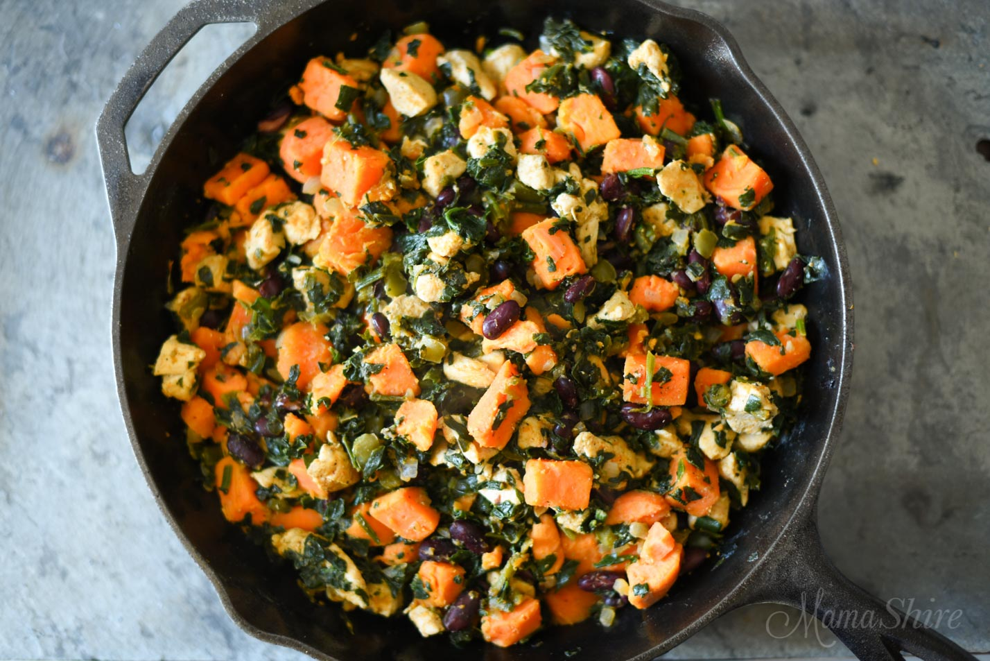 Chipotle Chicken with Sweet Potatoes - MamaShire.com