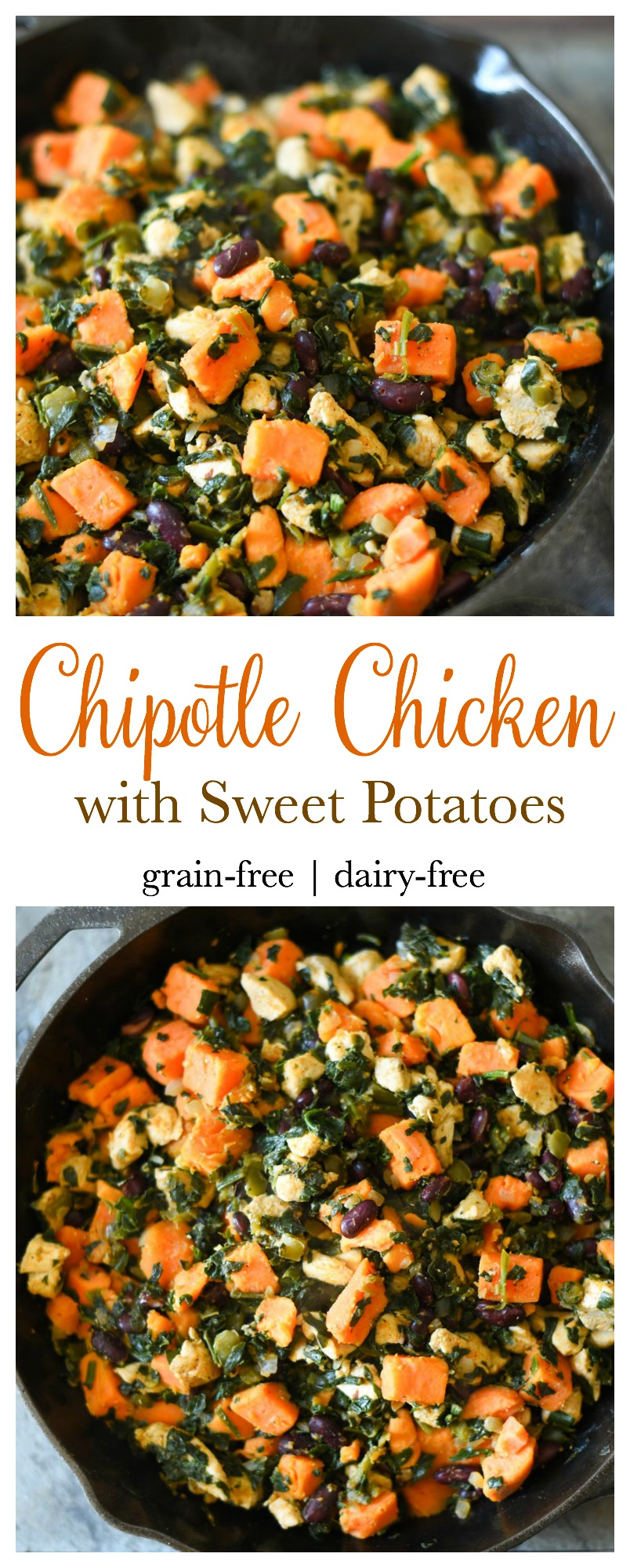 Chipotle Chicken with Sweet Potatoes