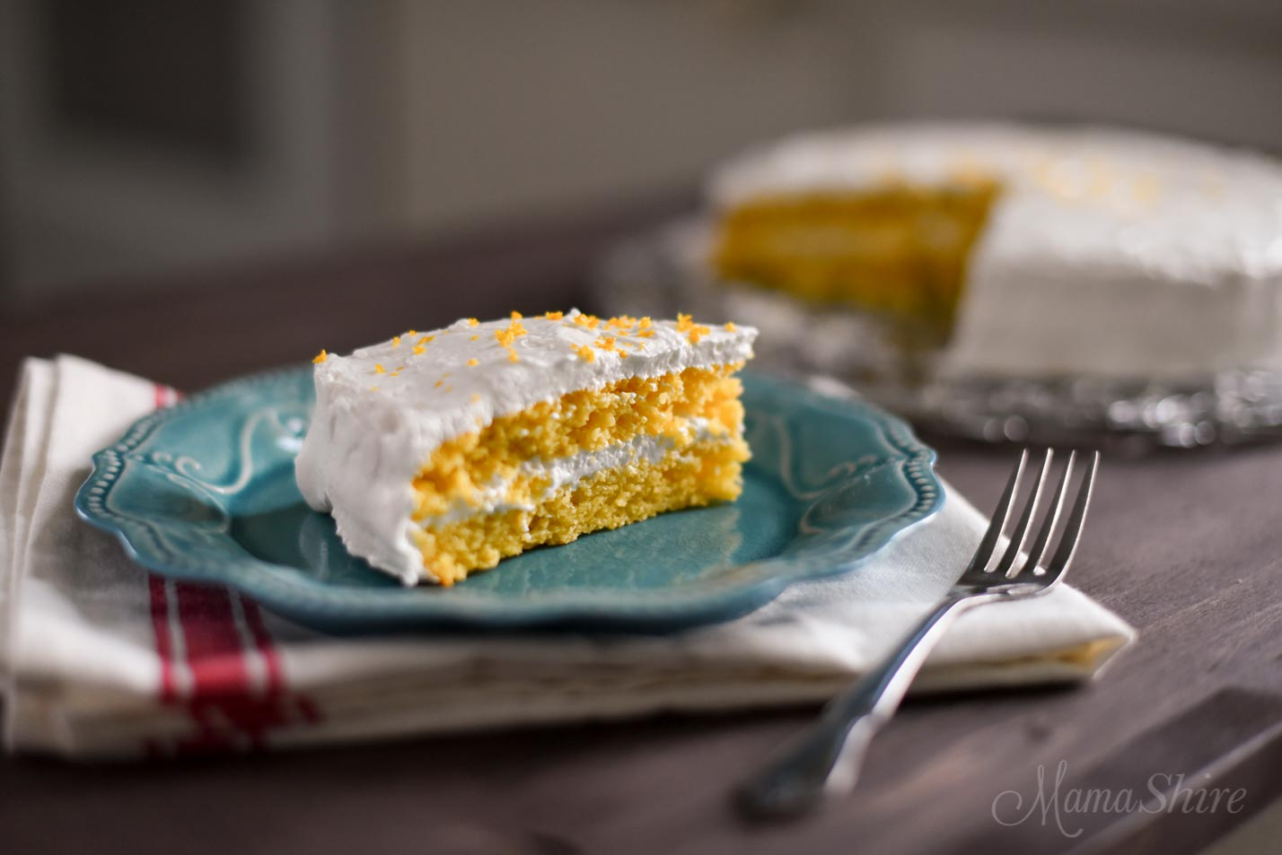 Gluten-Free Lemon Cake - Keto, Low-carb, THM-S