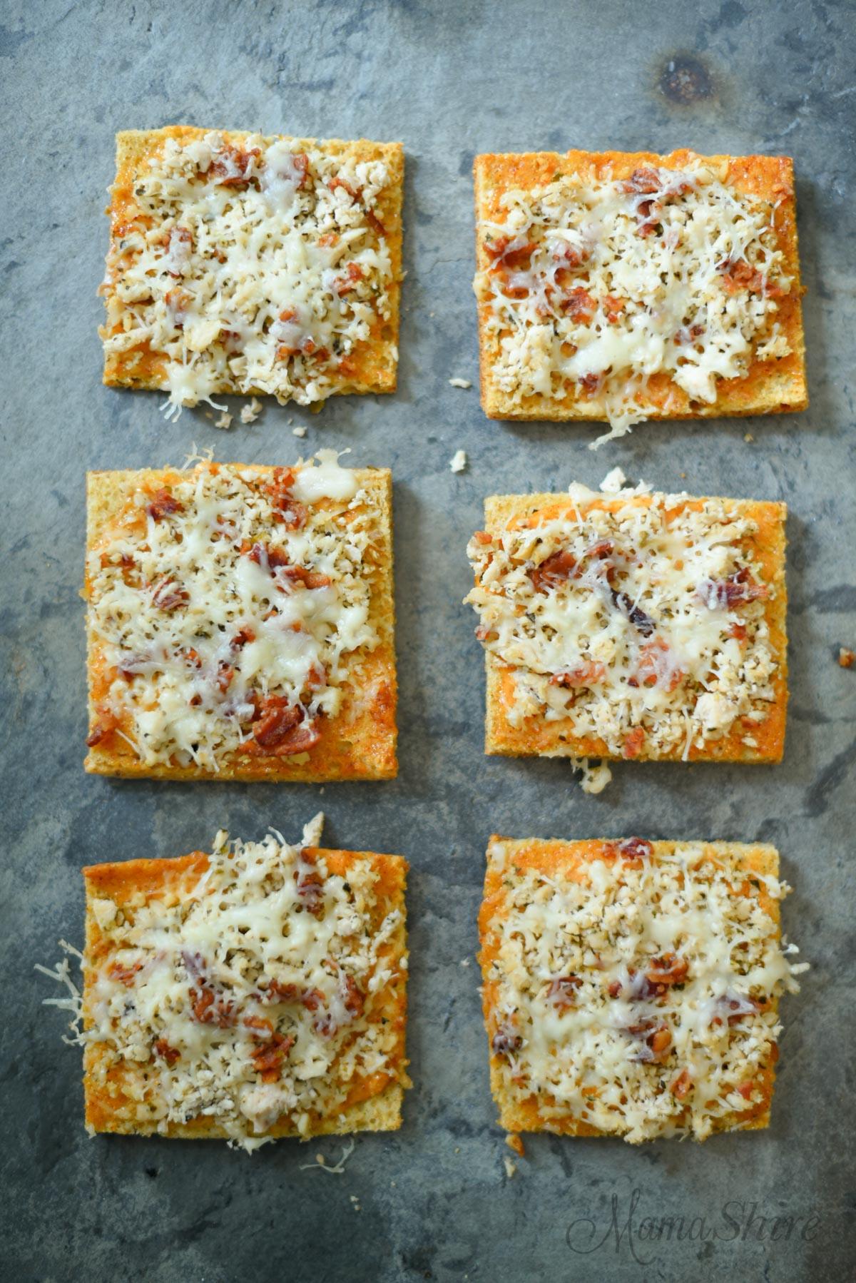 Chipotle Chicken Pizza Squares-Gluten-Free- MamaShire.com