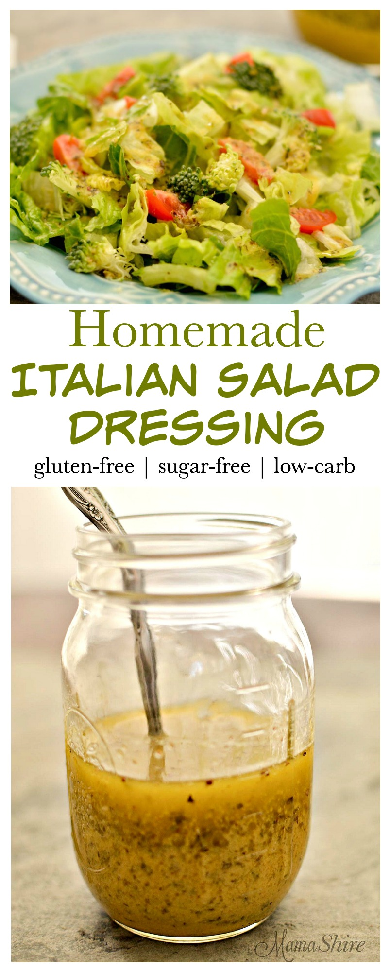 Homemade Italian Salad Dressing - Gluten-free, Sugar-free, Low-carb