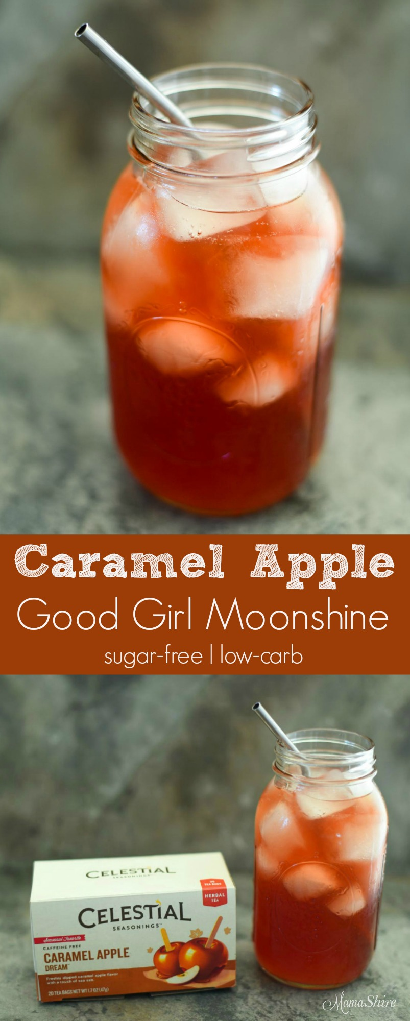 Caramel Apple Good Girl Moonshine - Sugar-Free, Low-Carb, THM All-Day Sipper