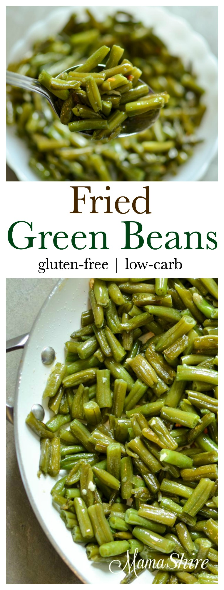 Fried Green Beans | gluten-free, low-carb