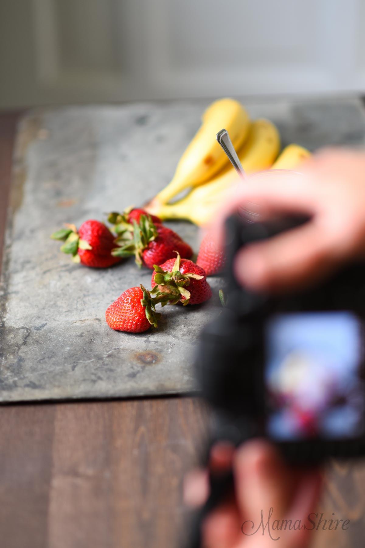 Strawberry Banana Frosty photography