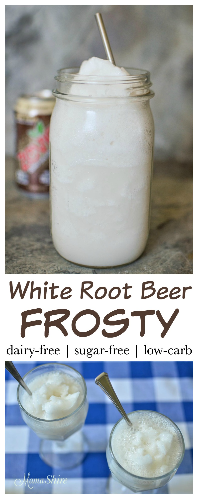 White Root Beer Frosty - Dairy-free, Sugar-free