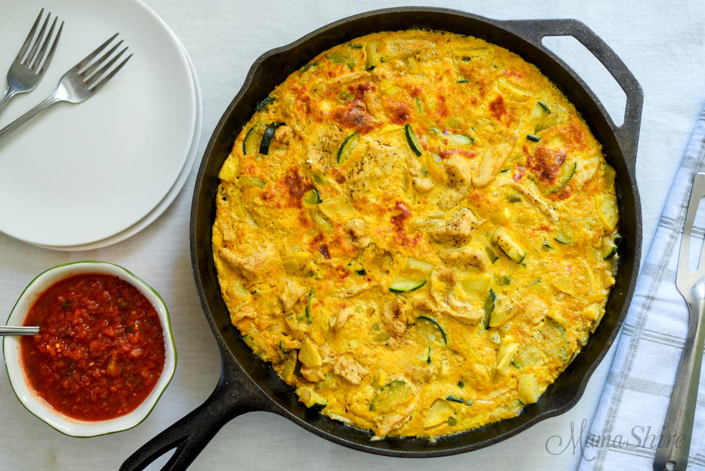 Fajita Frittata with Squash
