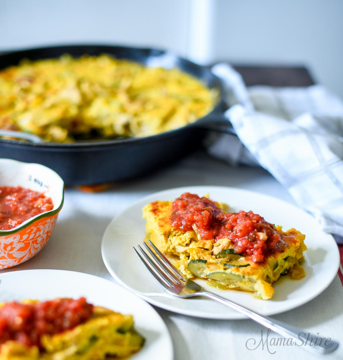 Fajita Frittata with Squash - Dairy-free, Low-carb, THM-S, Grain-free