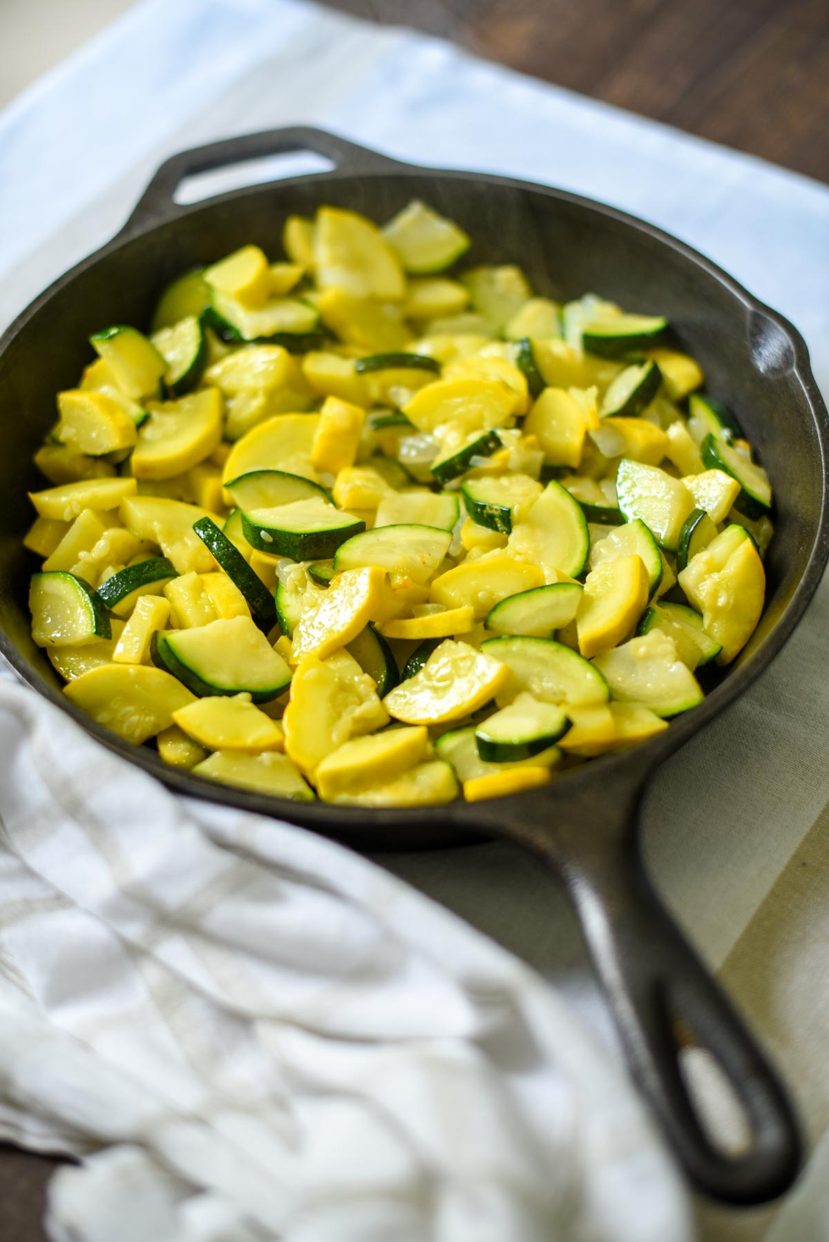 Fried Summer Squash - Low-carb, THM-S