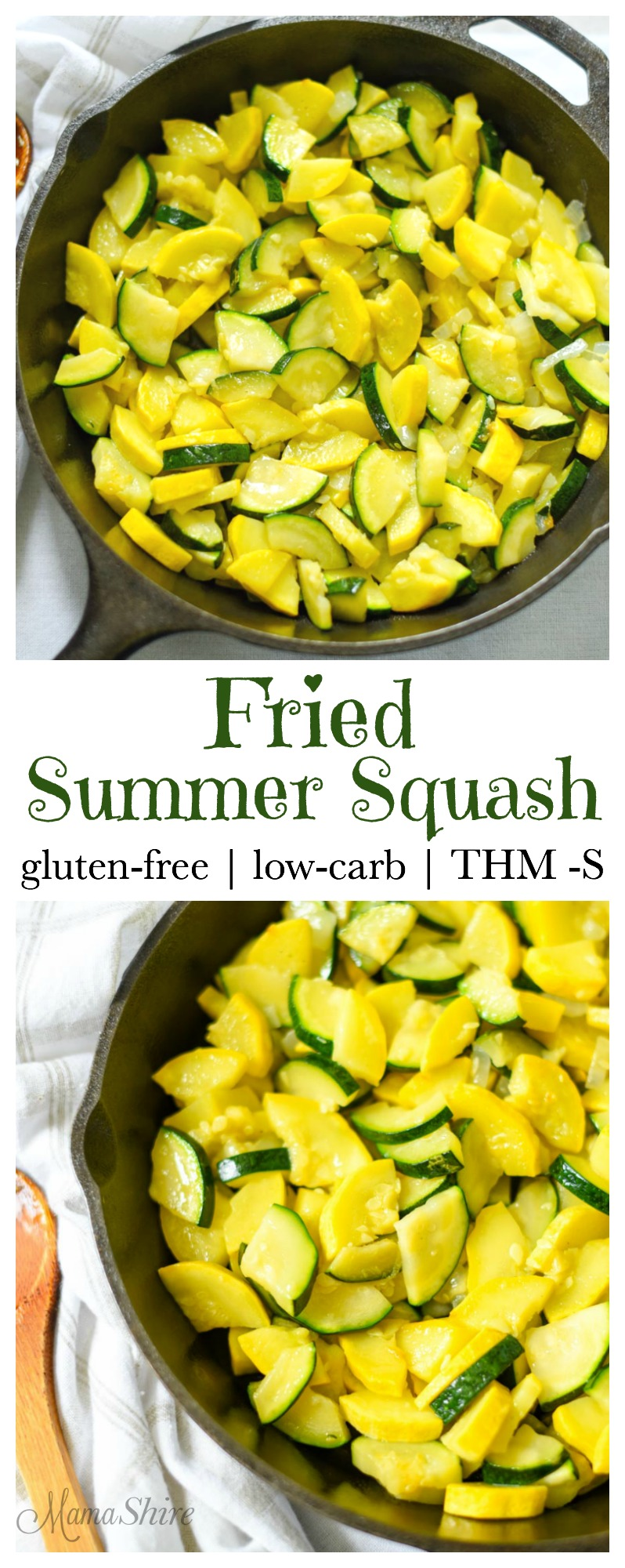 Fried Summer Squash - Gluten-free, low-carb, THM-S