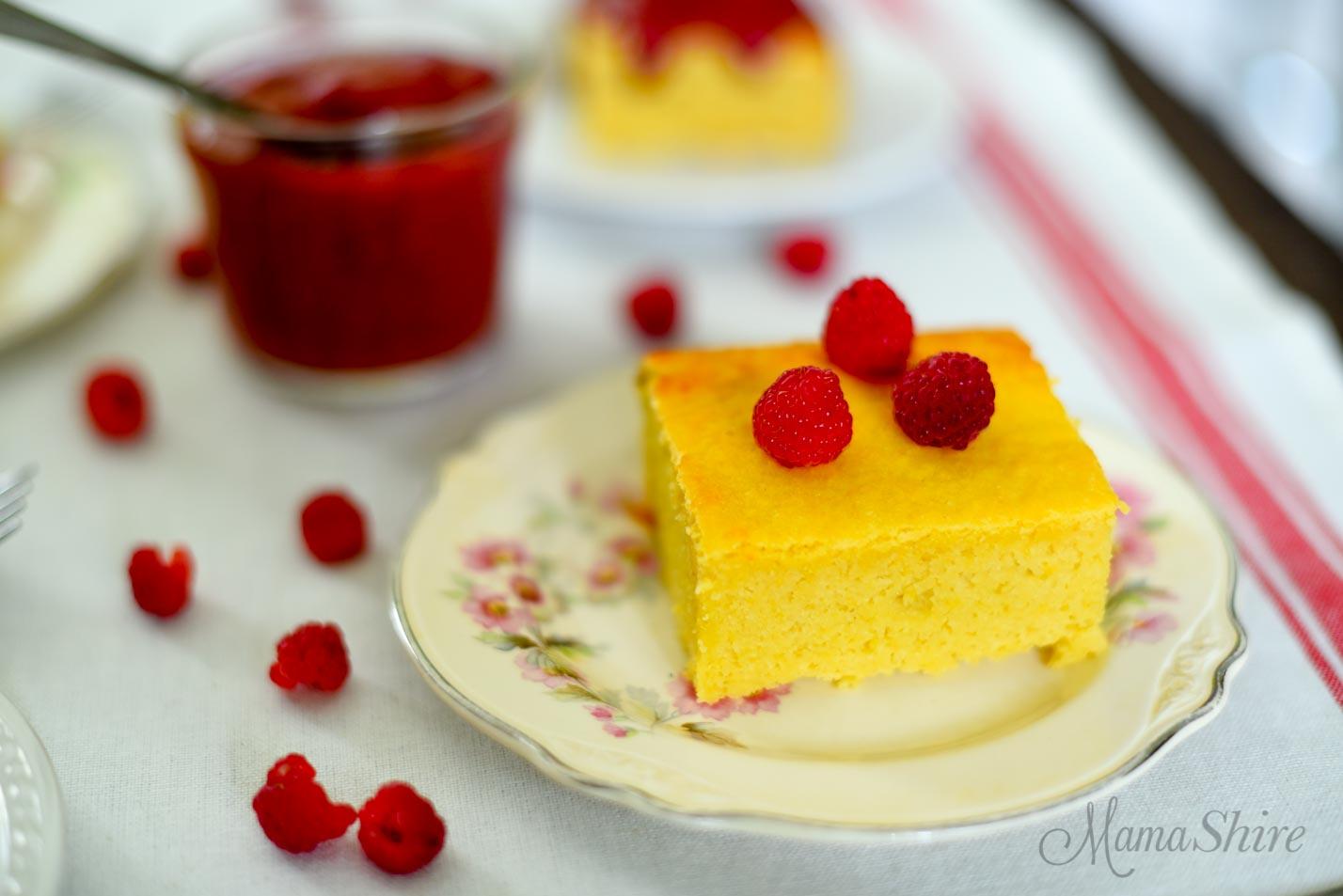 Yellow Squash Snack Cake - Tastes like a yummy pound cake. Dairy-free, Gluten-free, Sugar-free, Low-carb, THM-S