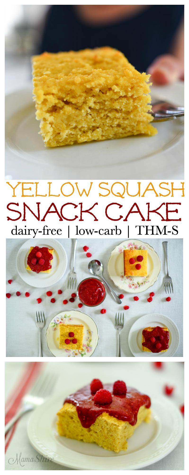 Yellow Squash Snack Cake - Gluten-free, Dairy-free, THM-S