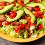 BLT Salad with Tangy Mayo Dressing - Dairy-free, Low-carb, THM-S
