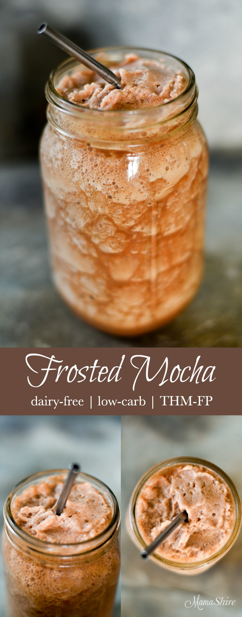 Frosted Mocha - Dairy-free, Sugar-free, Low-Carb, THM-FP