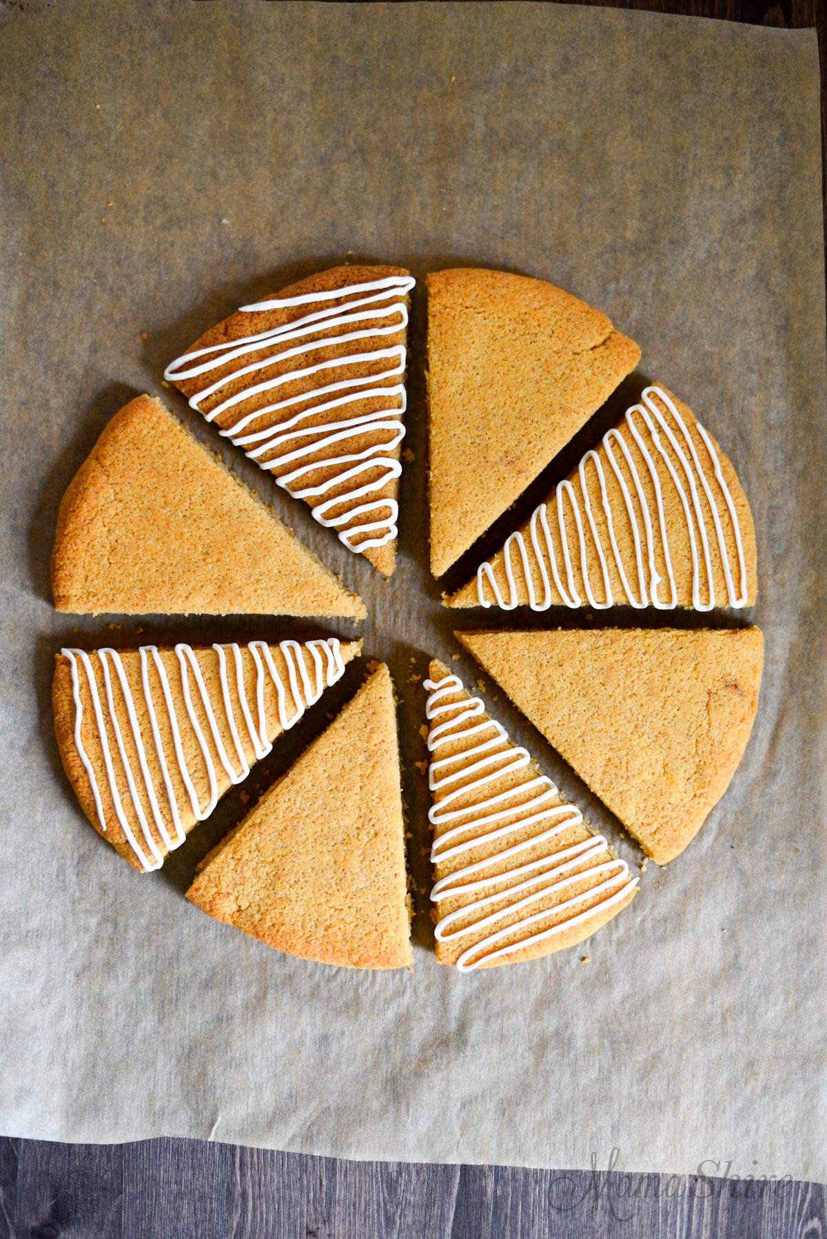 Grain-Free Snickerdoodle Scones - Gluten-free, Dairy-free, Sugar-free, Low-carb, THM-S