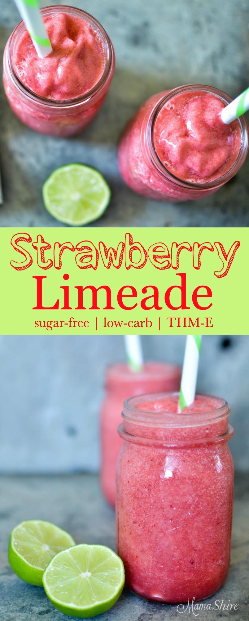 Heatlhy Strawberry Limeade - Sugar-free, low-carb, THM-E