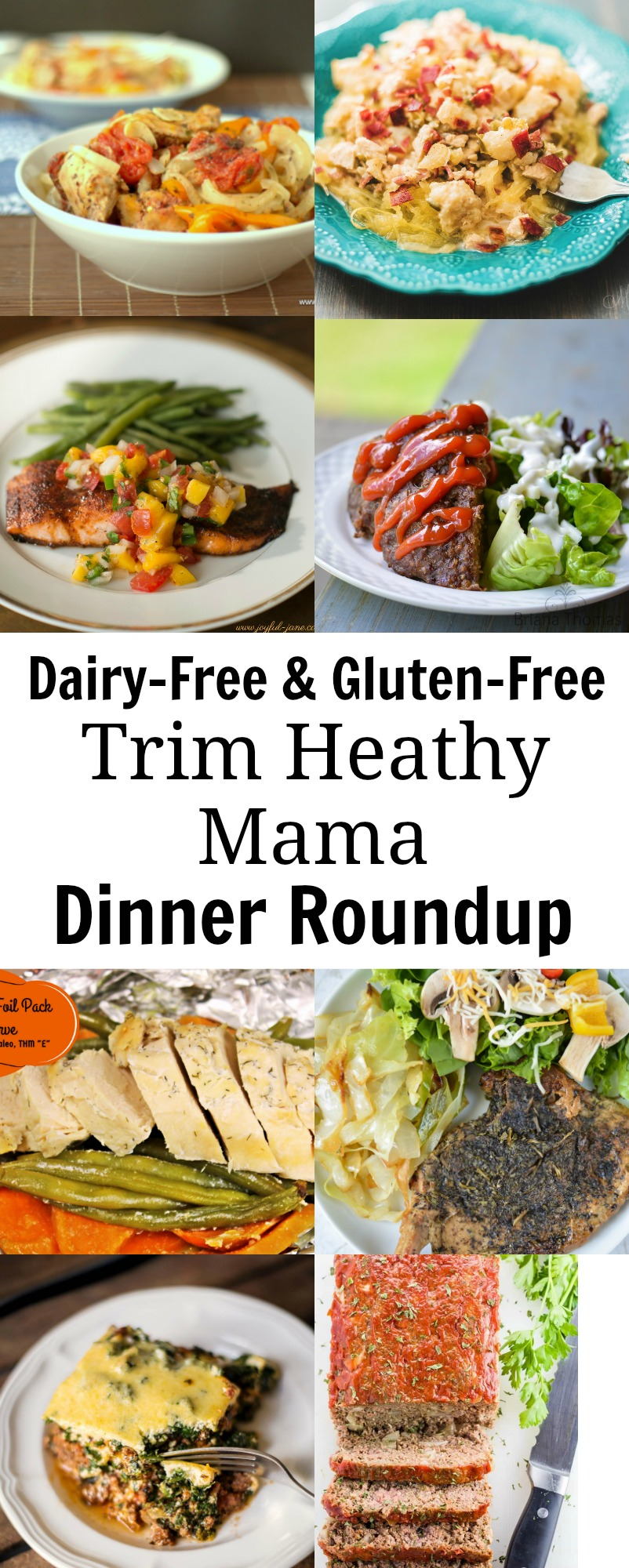 Dairy-Free Gluten-free THM Dinner Roundup