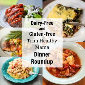 Five different dairy-free and gluten-free dinners featured in the recipe roundup.