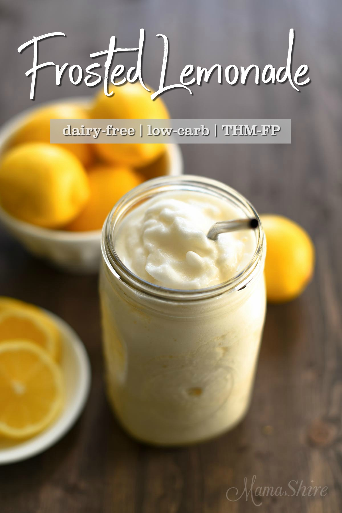 Frosted Lemonade - dairy-free, copycat recipe for Chick-Fil-A Frosted Lemonade.