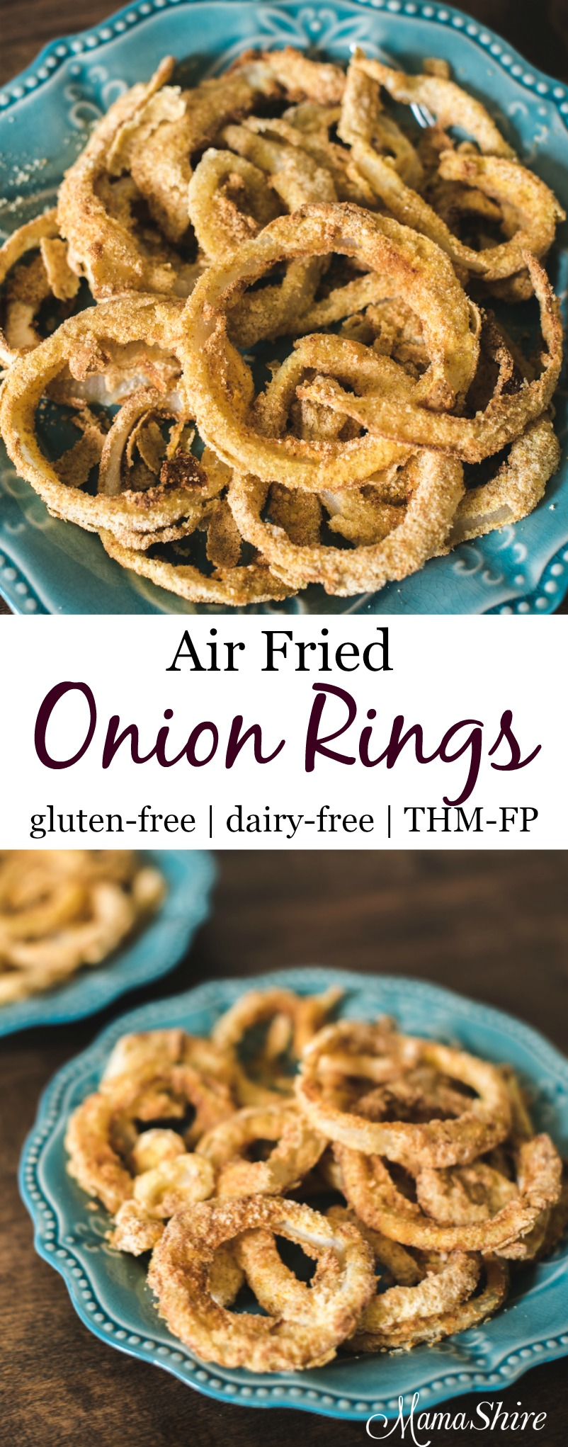 Air Fried Gluten Free Onion Rings - THM-FP