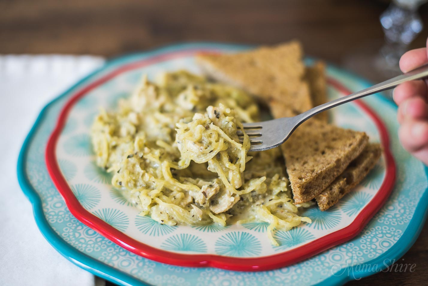 Chicken Broccoli Alfredo Gluten Free Dairy Free Low Carb THM-S