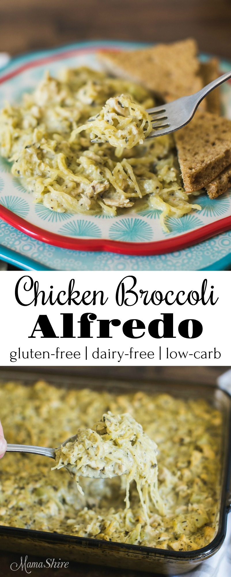 Chicken Broccoli Alfredo Gluten-Free Dairy-Free Low-Carb THM-S #keto #trimhealthymama #lowcarb #dairyfree