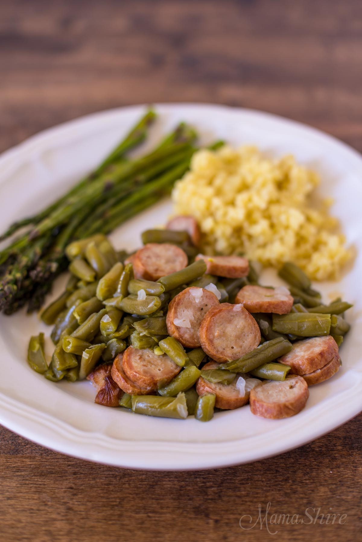 Farmhouse Beans & Sausage - Gluten-free, Low-carb, Instant Pot
