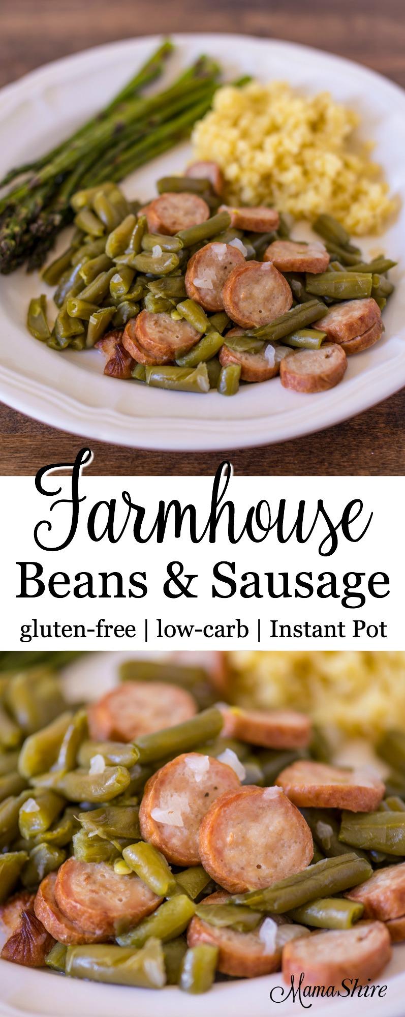 Farmhouse Beans & Sausage - Gluten-free, Low-carb, Instant Pot