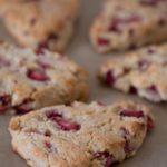 Strawberry Scones - Gluten free, Dairy free, Sugar free, Low-carb, THM-S