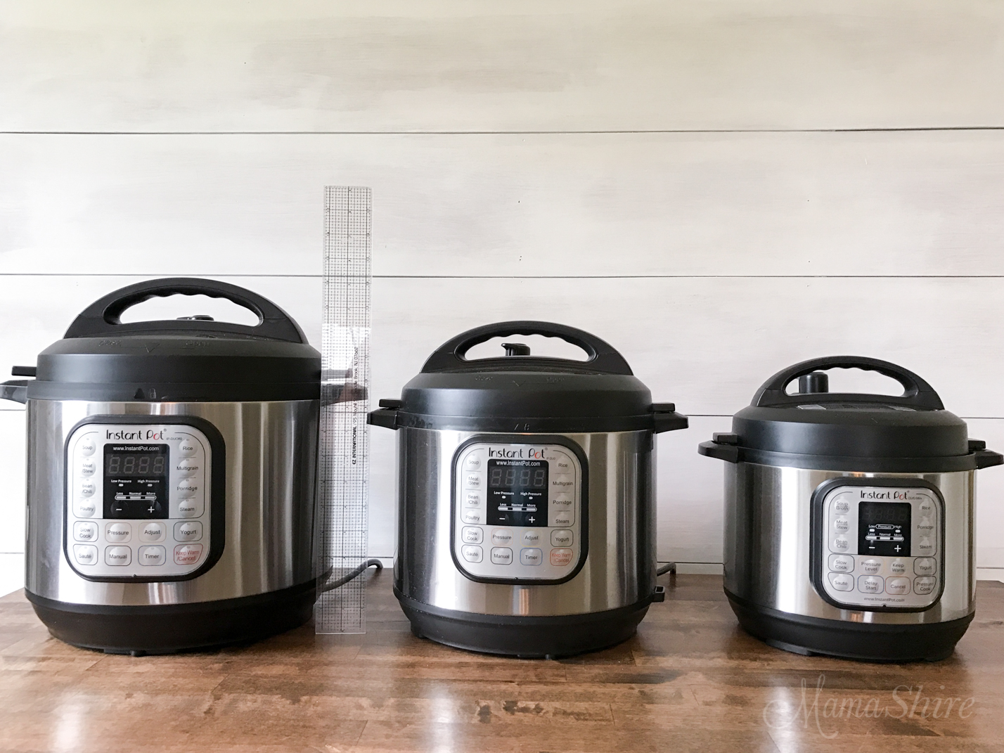 Goldilocks and the Three Instant Pots