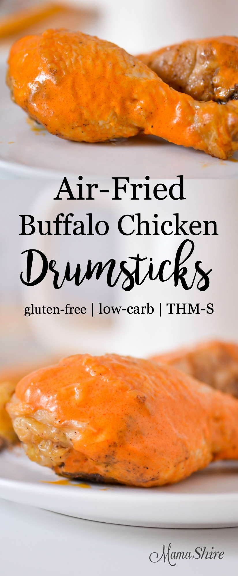 Air-Fried Buffalo Chicken Drumsticks - paleo, keto, Trim Healthy Mama