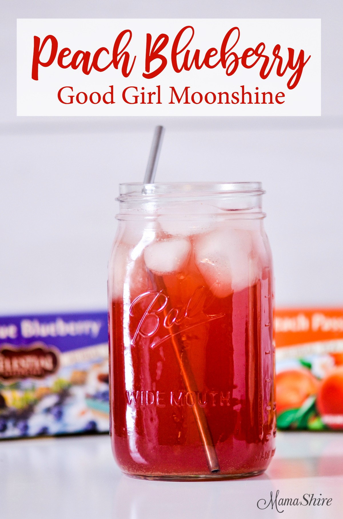Peach Blueberry Good Girl Moonshine