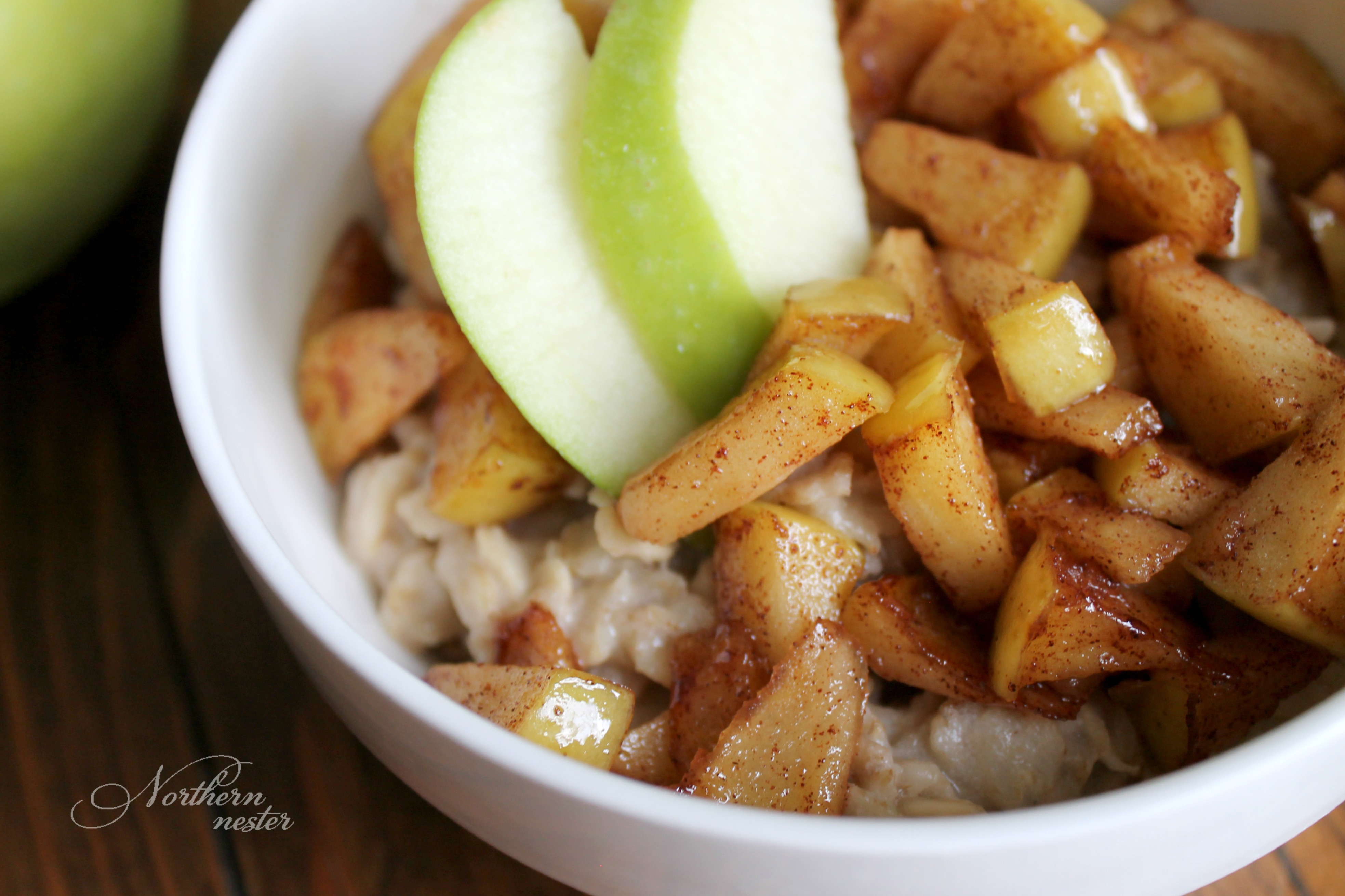 Apple Pie Oatmeal - THM-E