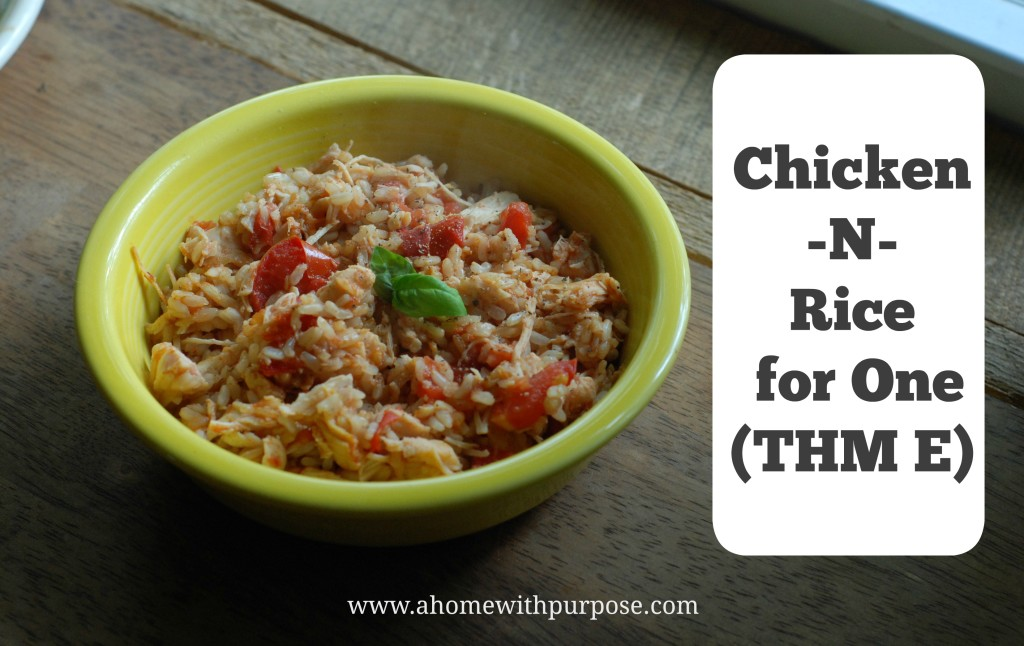 Chicken and Rice for One - Healthy Dinners for One