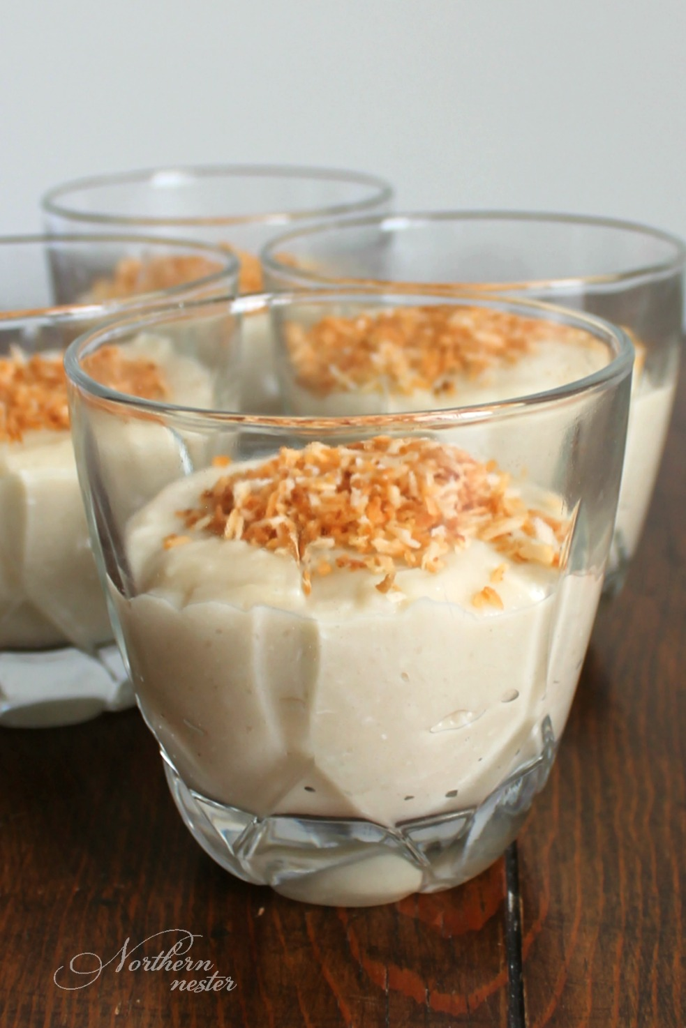 Coconut Cream Pie Bowls - Healthy Desserts for One